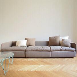- Divano modulare Sphaus in cotone e lino