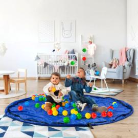 Dmail - Tappeto sacco portagiochi 2 in 1 per bambini