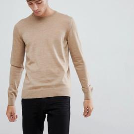 Farah - Maglione in lana merino color sabbia