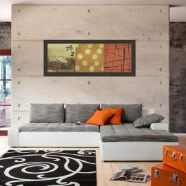 Home Design - Divano letto angolare Grand Bahama in similpelle e stoffa