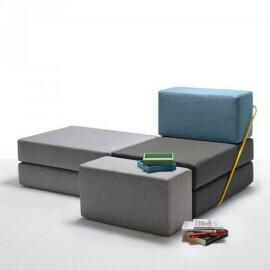 Thesign - Seduta/letto modulare Rodolfo in tessuto