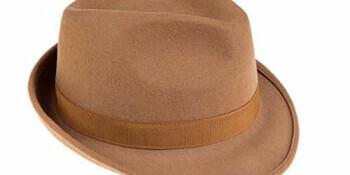 Ledatomica - Cappello borsalino camel
